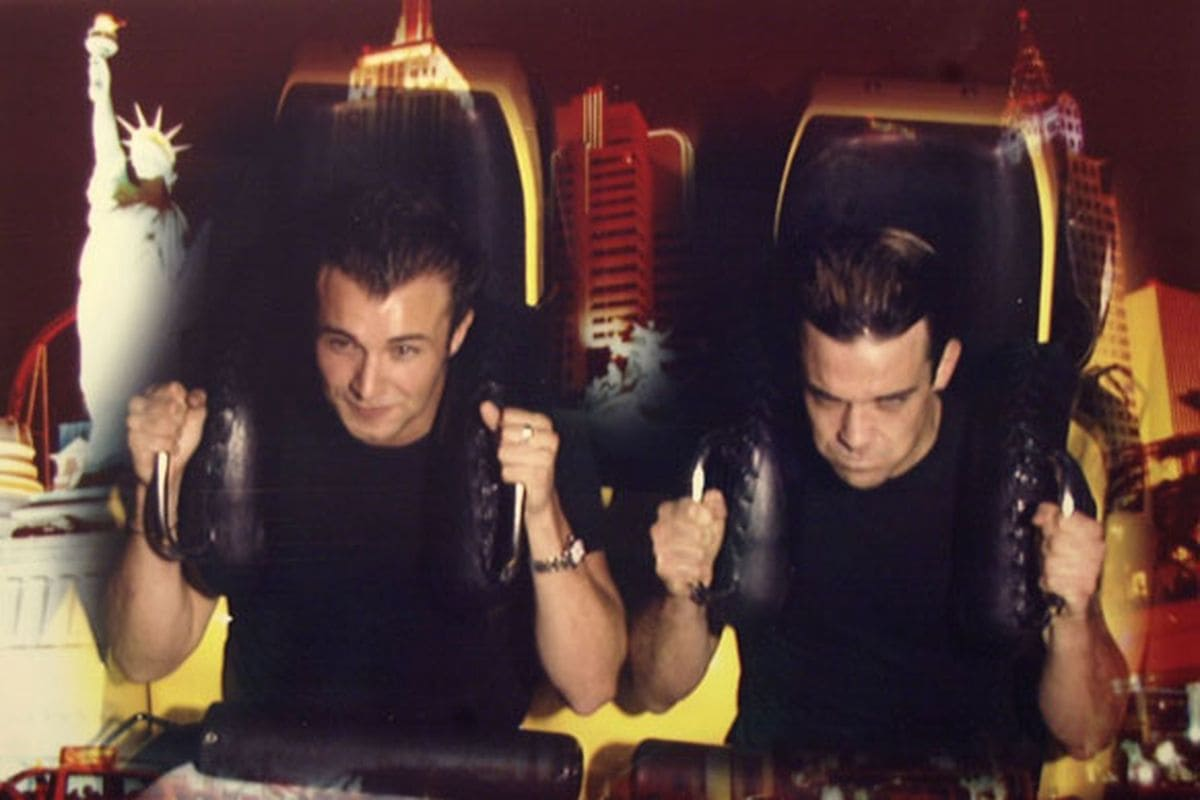 Robbie Williams on a roller coaster