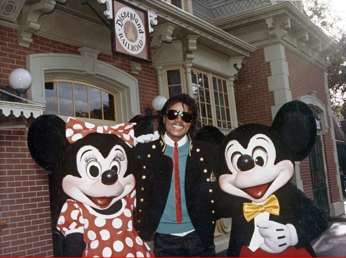 Mickey and Mini Mouse with Micheal Jackson