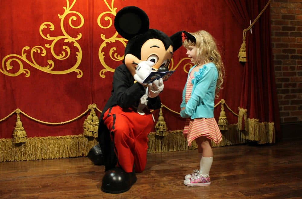 Mickey Mouse with a child