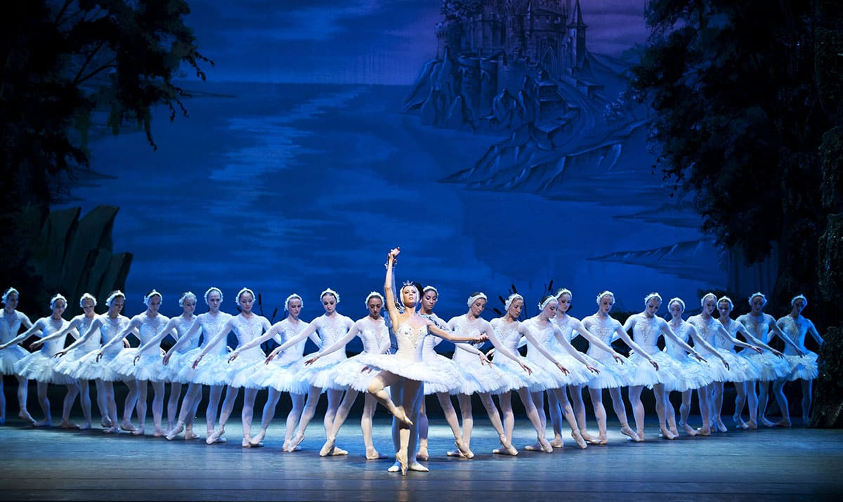 Russian national ballet performs Swan Lake ballet at Jincheng Art Theater on October 2, 2010, in Chengdu, China.