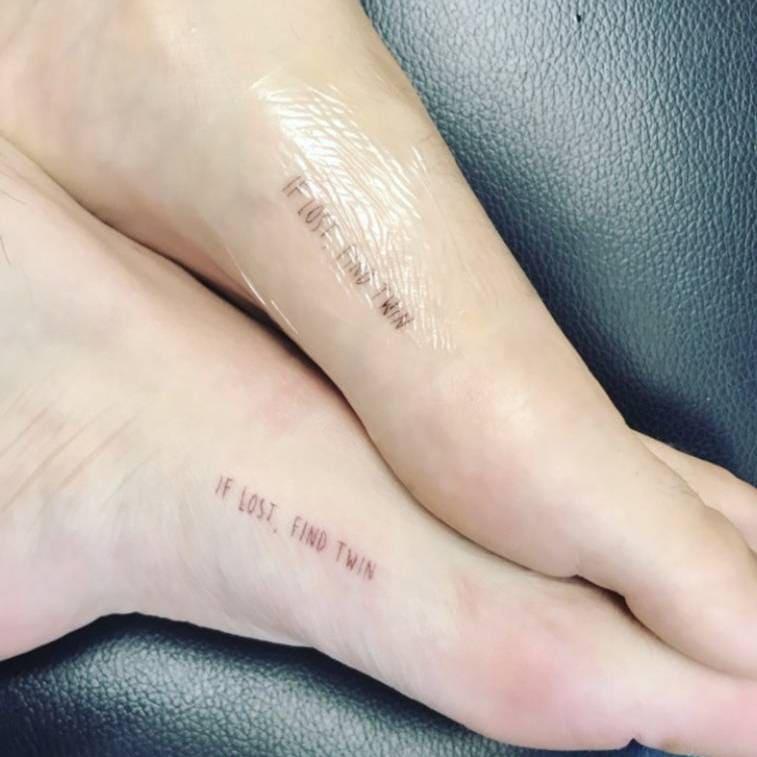 """Bella and Dani Thorne's """"twin"""" tattoos"""