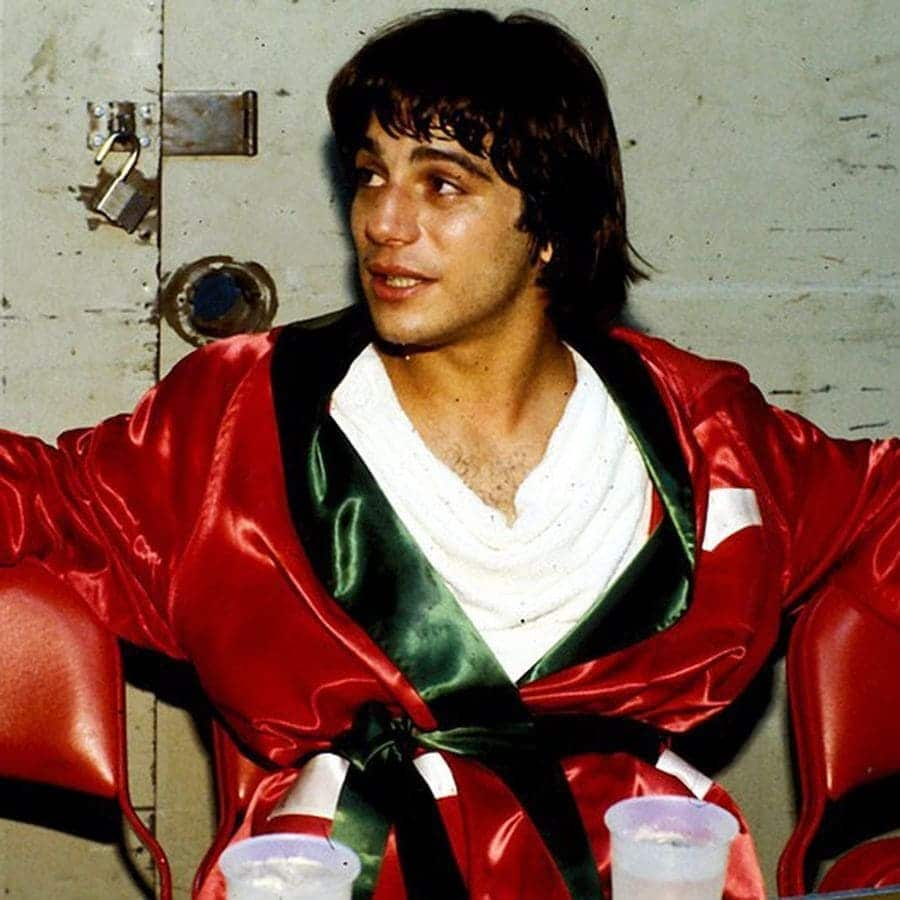 Tony Danza in the boxing ring after a fight