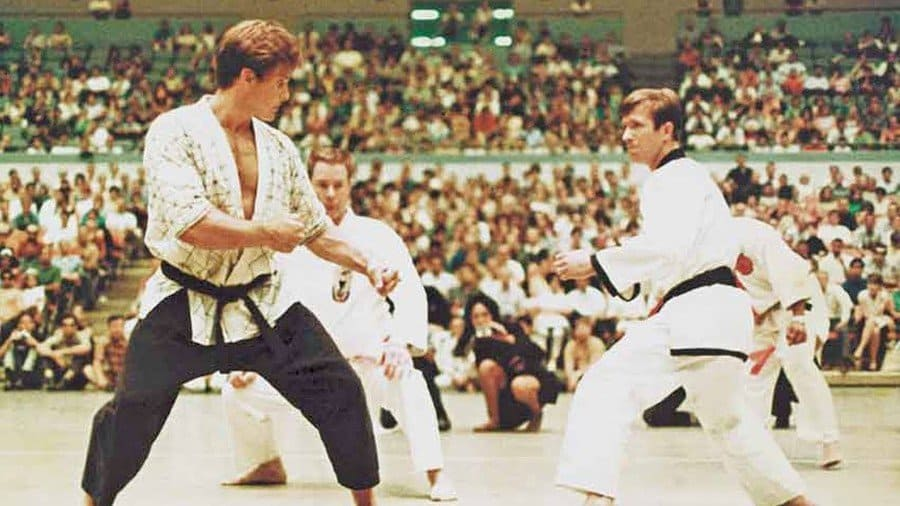 Chuck Norris in the World Karate Championship.