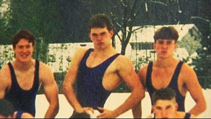 Chris Pratt in wrestling clothes
