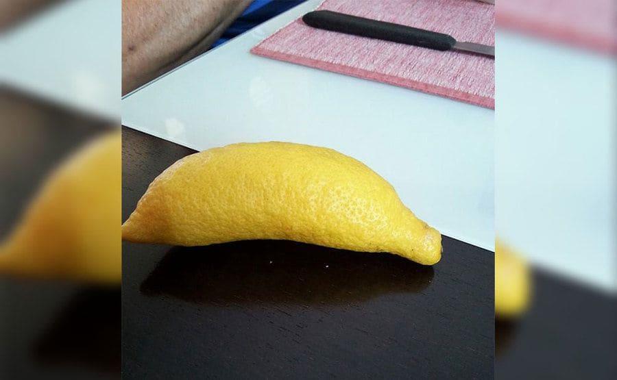 A lemon that looks like a banana