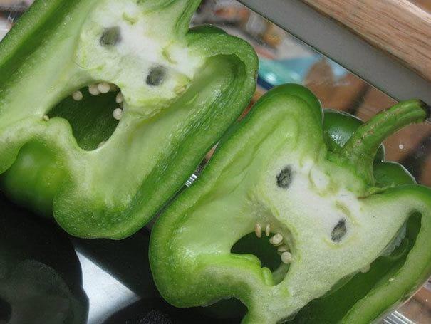 Terrified looking peppers