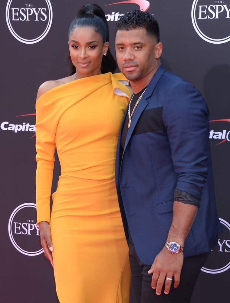 Russell Wilson and Ciara at the ESPY Awards