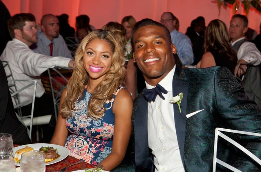 Cam Newton and Kia Proctor