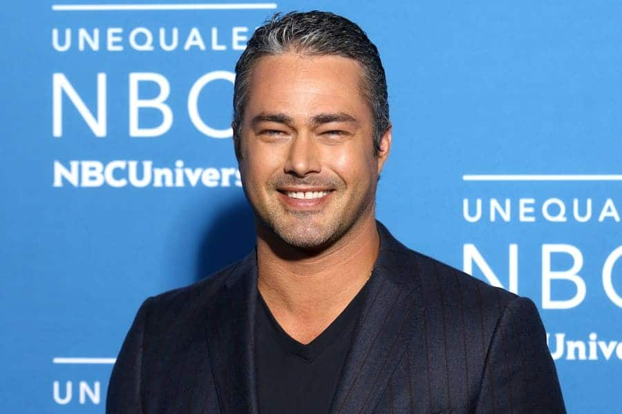 Taylor Kinney attends the 2017 NBCUniversal Upfront