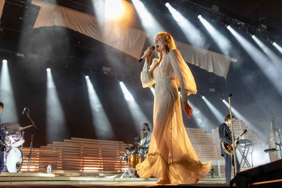 Florence Welch was performing with Florence and the Machine in 2018.