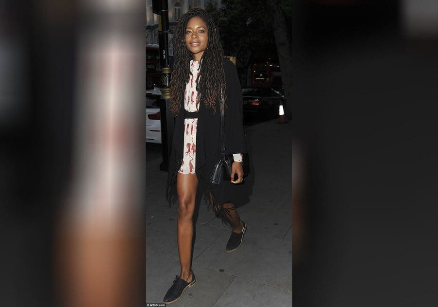 Naomie Harris out and about for her birthday in London.