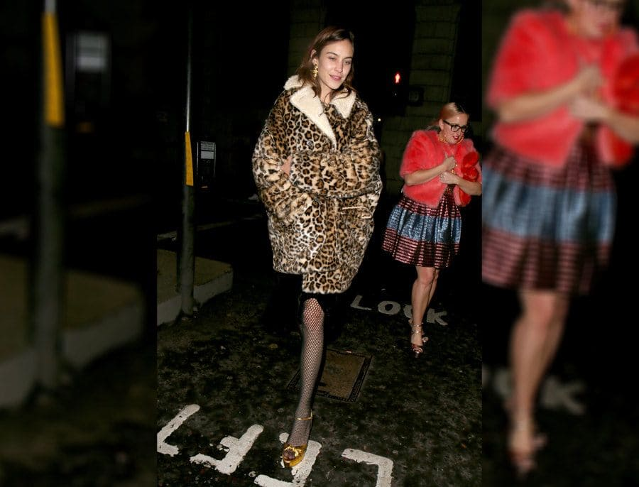 Alexa Chung at the Universal Music BRIT Awards afterparty.