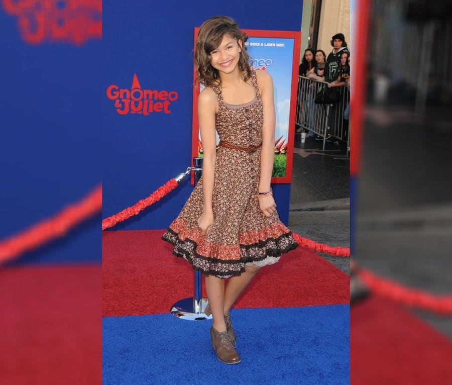 Zendaya at the Gnomeo and Juliet film premiere.