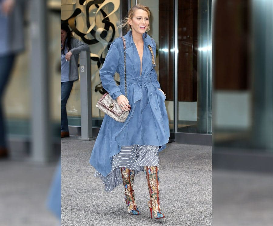 Blake Lively out and about in New York in 2017.