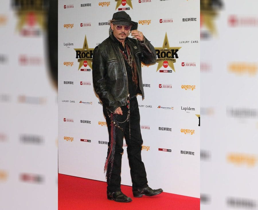 Johnny Depp at the Classic Rock Awards in Japan.