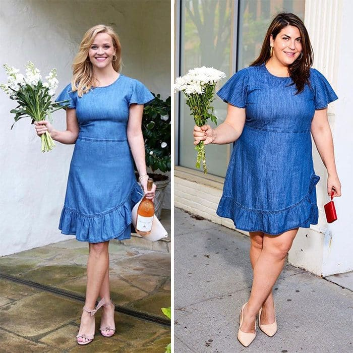 Katie Sturino and Reese Witherspoon side by side