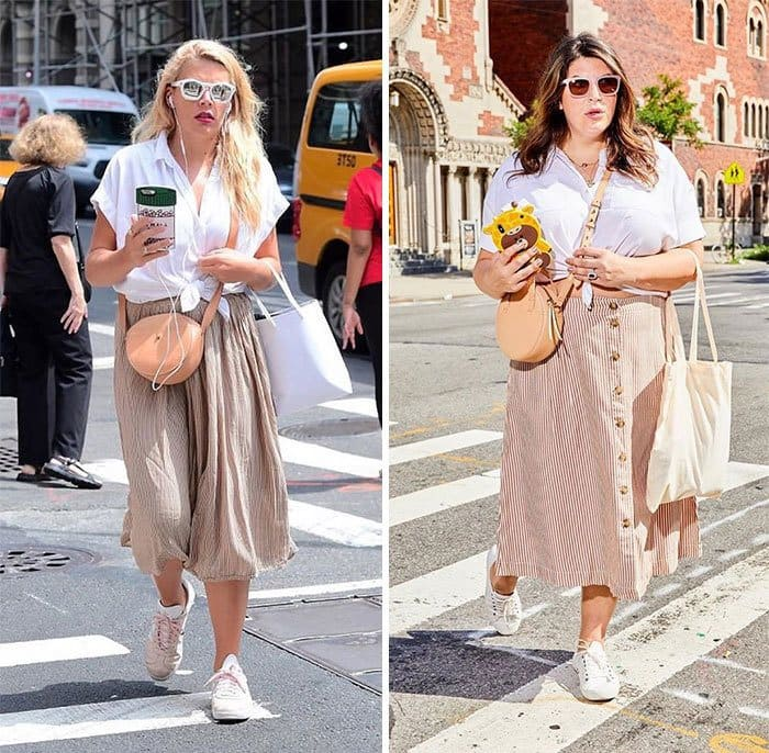 Busy Philipps and Katie Sturino side by side