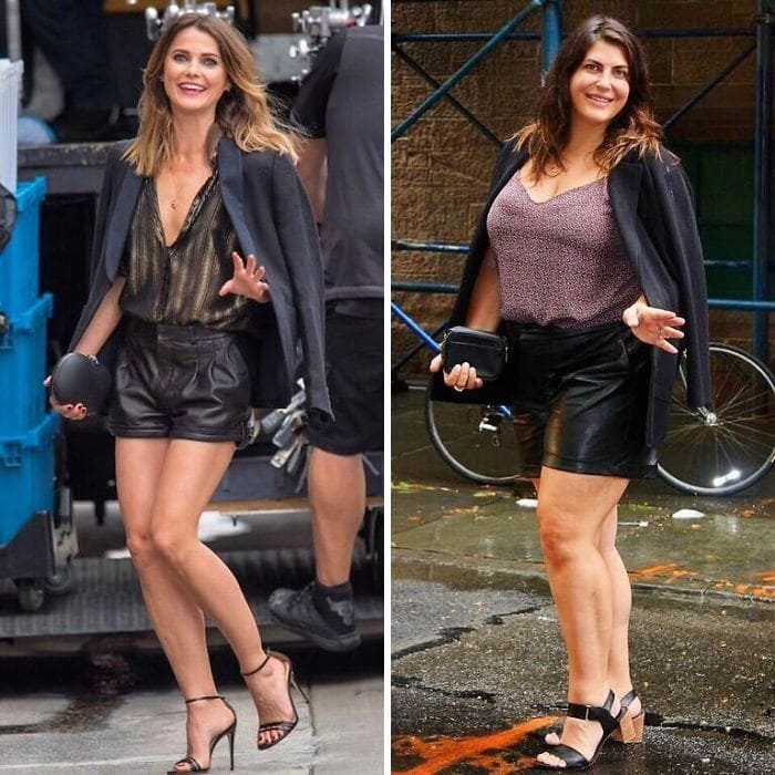 Keri Russell and Katie Sturino side by side