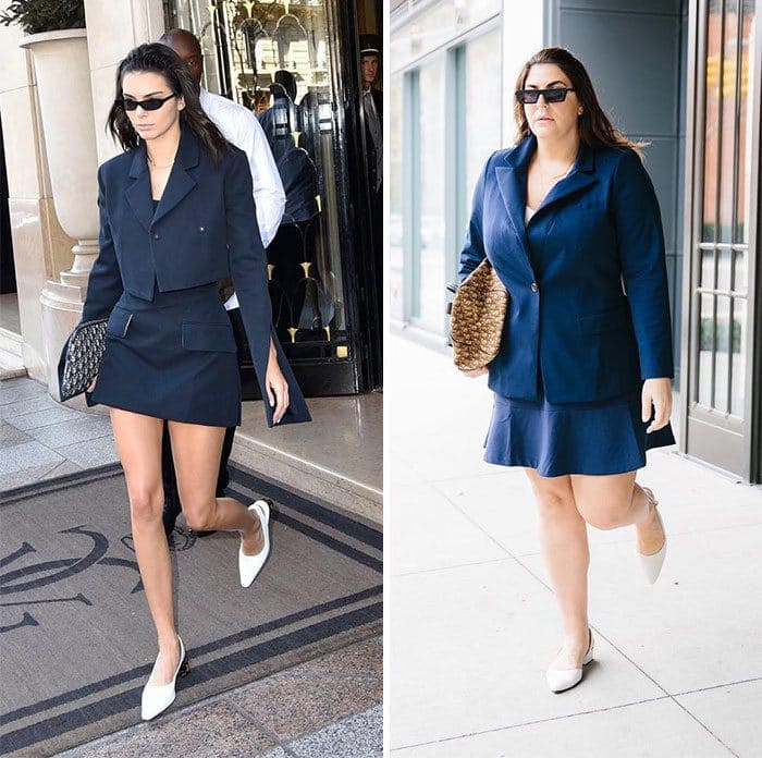 Kendall Jenner and Katie Sturino side by side