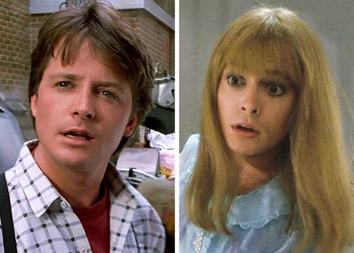 Michael J. Fox — Marty McFly and Marlene McFly, Back to the Future Part II (1989)