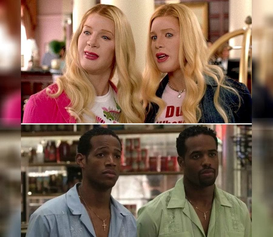 Marlon and Shawn Wayans in the movie White Chicks