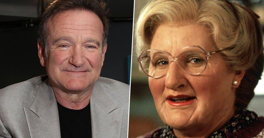 Robin Williams in the movie Mrs. Doubtfire