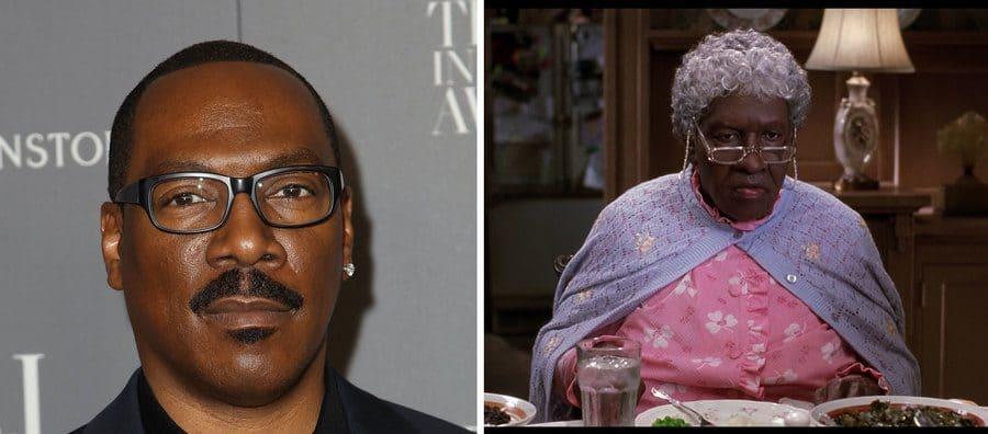 Eddie Murphy as Grandma Klump from the Nutty Professor Movie
