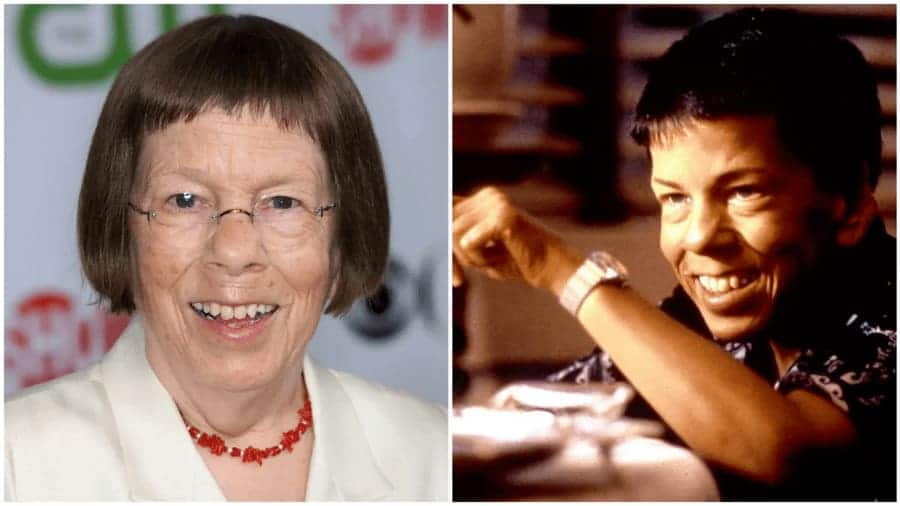 Linda Hunt as Billy Kwan in the movie called The Year of Living Dangerously