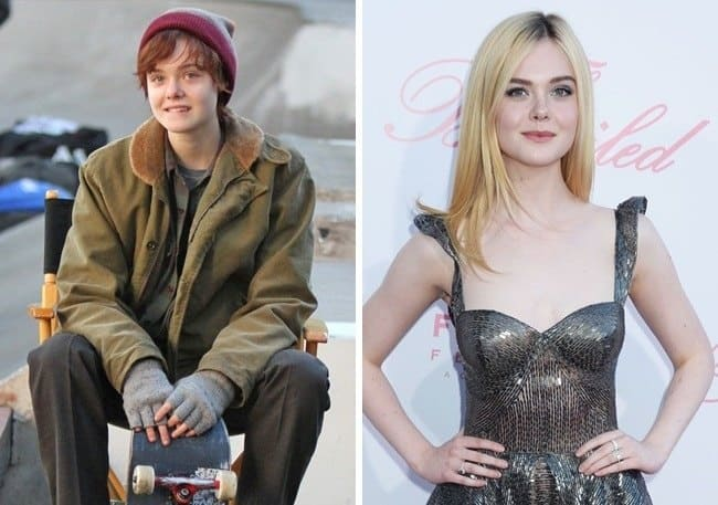 Elle Fanning in the movie 3 Generations and as herself side by side