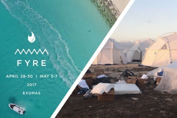 Fyre Festival promo and the reality of the situation