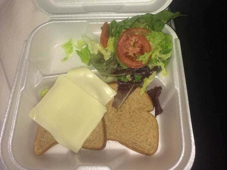 Sandwich provided at the Fyre Festival