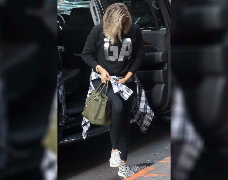 Khloe Kardashian out and about in New York in August 2018.