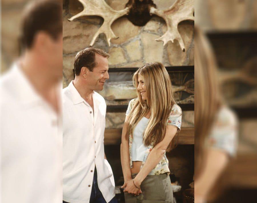 Rachel Green with guest star, Bruce Willis.