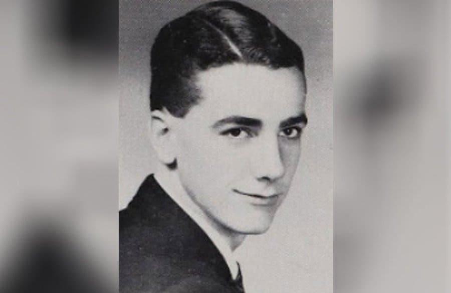 Sam Elliotts senior yearbook photo from 1962.