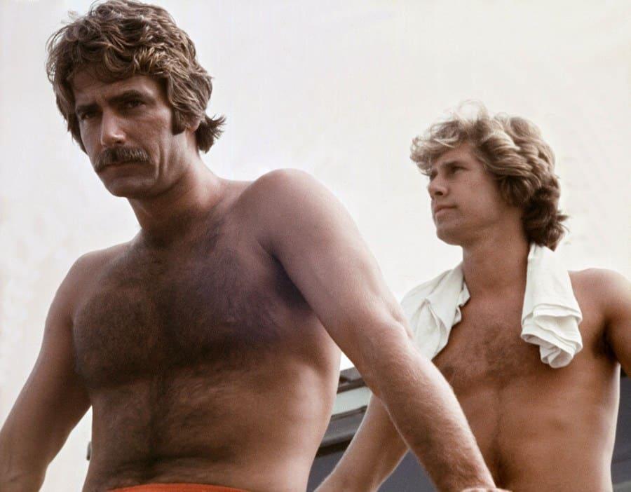 Sam Elliott and Parker Stevenson in Lifeguard in 1976.