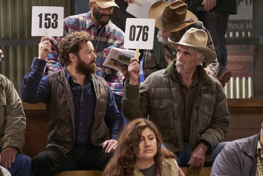Sam Elliott and Danny Masterson in the show The Ranch in 2017.