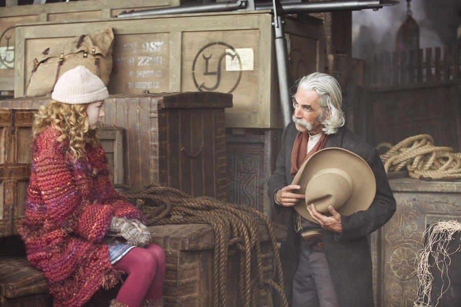 Sam Elliott with Dakota Blue Richards in a scene from The Golden Compass in 2007.