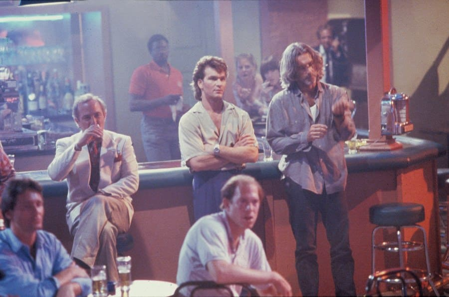 Patrick Swayze and Sam Elliott in Road House in 1989.