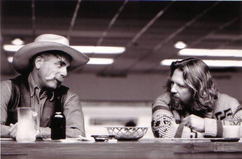Jeff Bridges and Sam Elliott in The Big Lebowski in 1998.