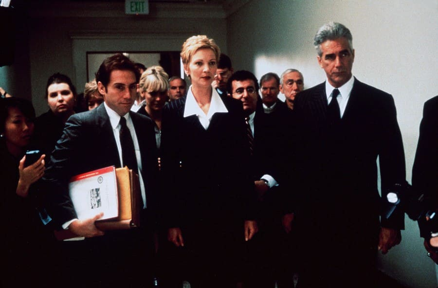 Sam Elliott with Mike Binder and Joan Allen as the Chief of Staff in The Contender in the year 2000.