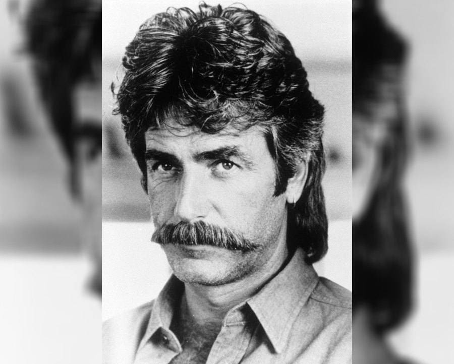 Sam Elliott in Mask with his infamous mustache.