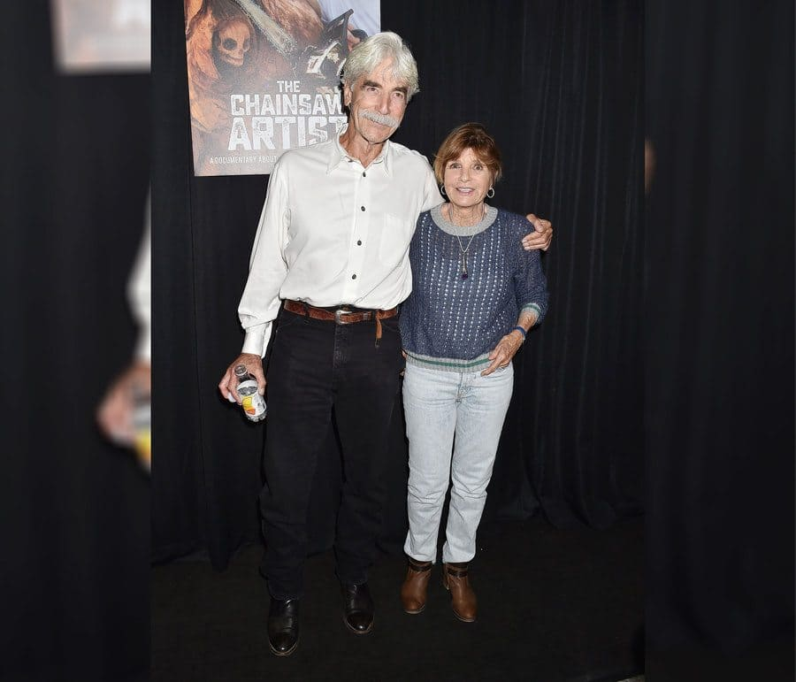 Sam Elliott and Katharine Ross at The Chainsaw Artist gallery event in LA in 2019.