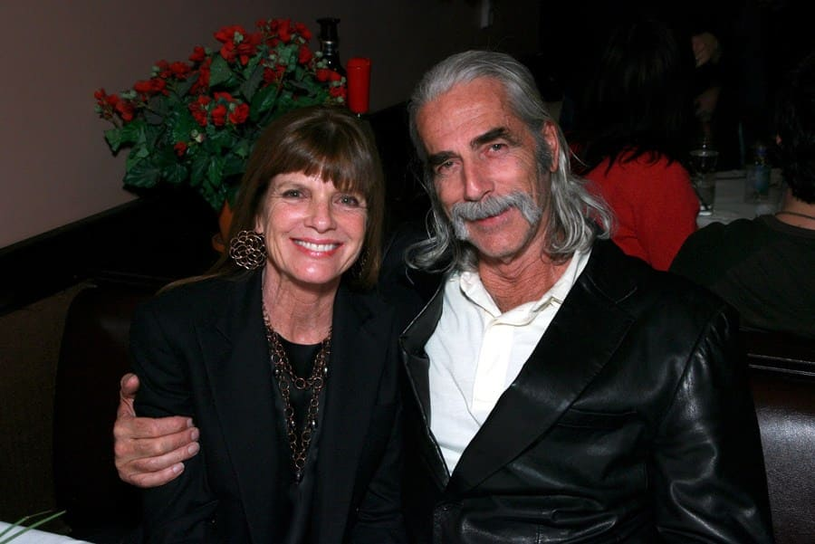 Sam Elliott and Katharine Ross looking in love at The Golden Compass screening after-party.