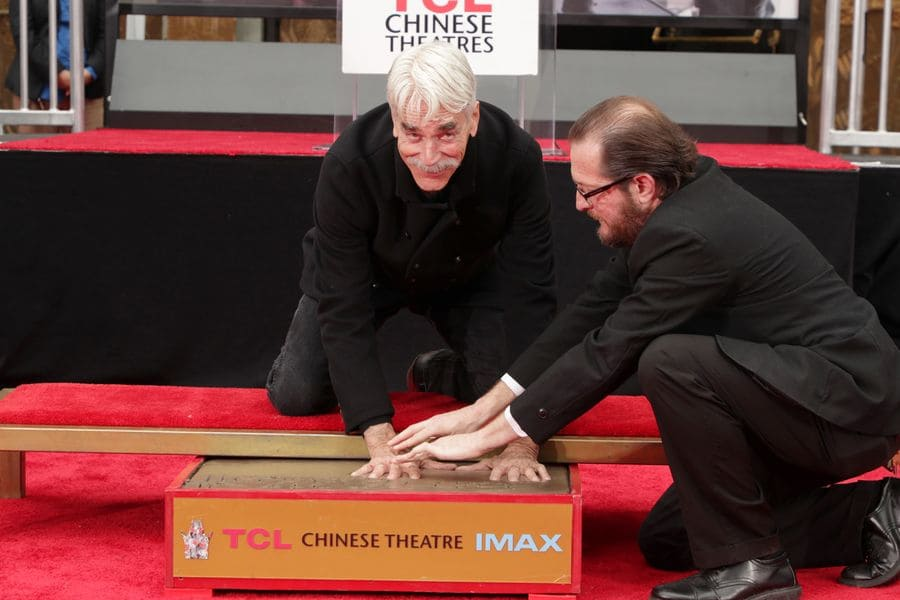 Sam Elliott at his Hand and Footprint Ceremony at the TCL Chinese Theatre in 2019.