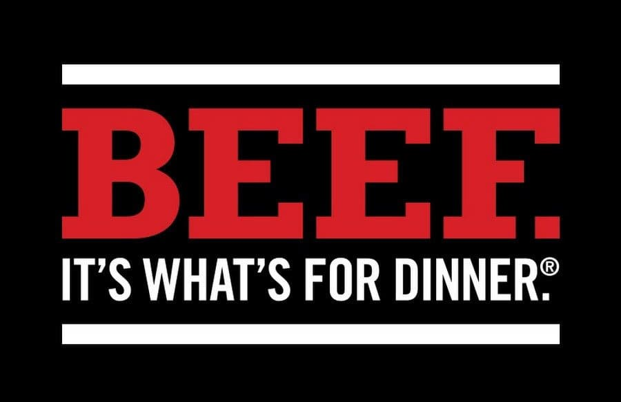 The logo for 'Beef. It's What's For Dinner.'