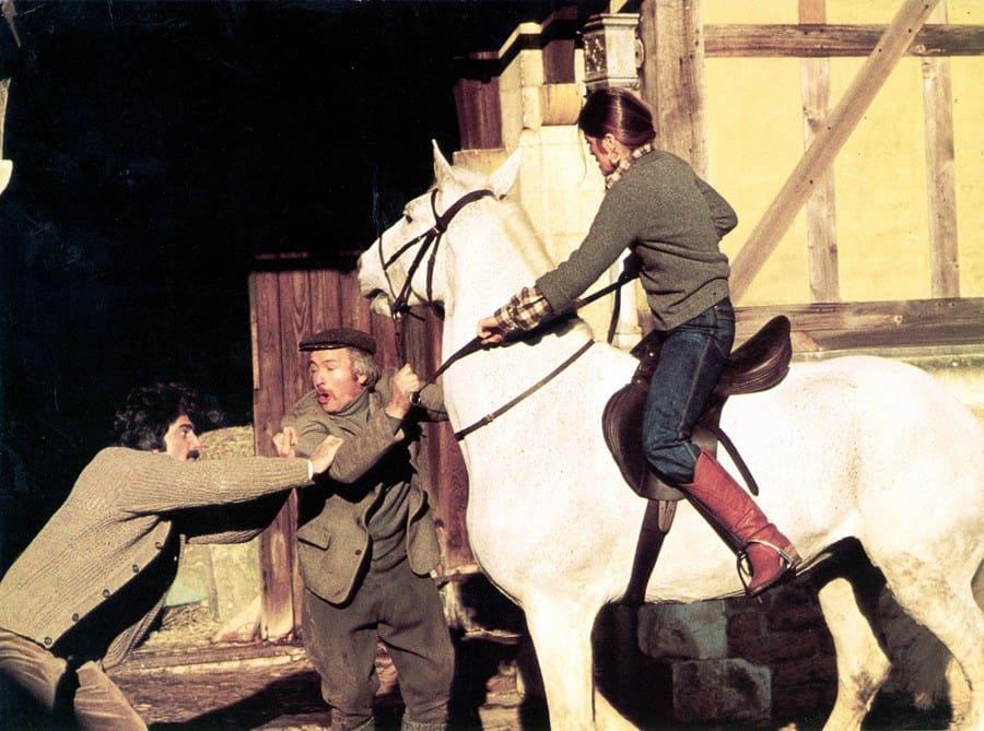 An older scene of Sam Elliott and Katharine Ross in The Legacy.