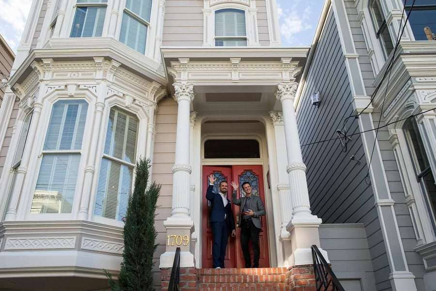 The iconic 'Full House' house in San Francisco.