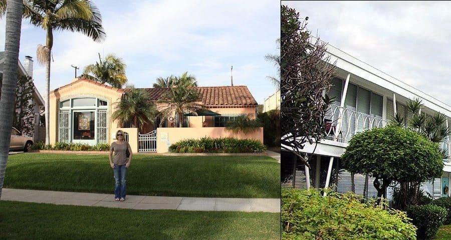 A fan visiting Dexter and Rita's house. / Dexter's beachside apartment.