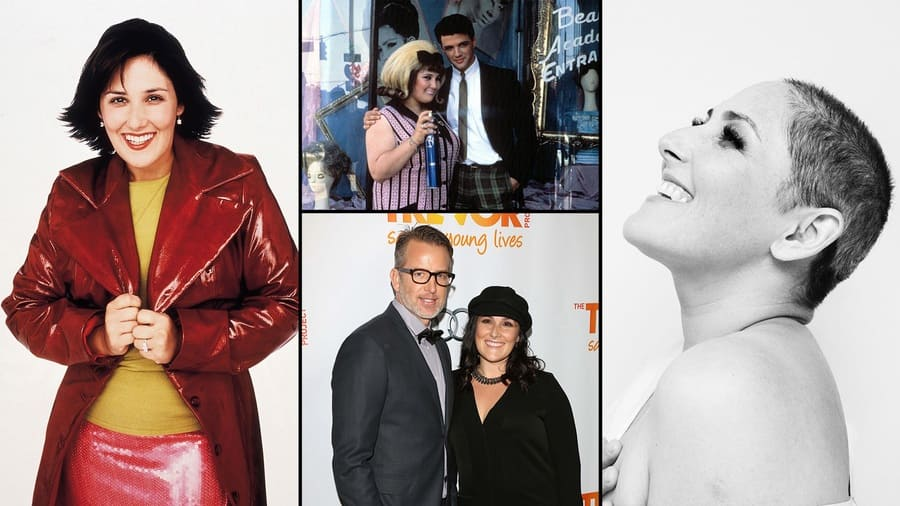 Ricki Lake, photographed in the '90s/ Ricki Lake with Michael St Gerard, photo from the Hairspray movie / Ricki Lake with her second husband Christian Evans at the 2012 Trevor Project Live / A picture of Ricki Lake with her new look