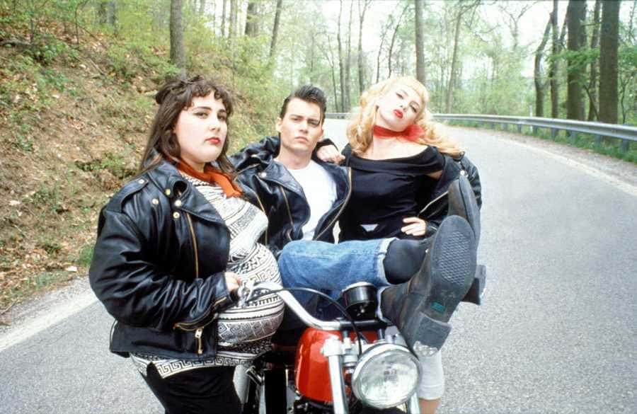 Ricki Lake with Johnny Depp and Traci Lords in the Cry-Baby movie.